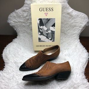 Vintage Guess Western Leather Ankle Boots